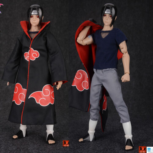 9L YOUYOU 12/'/' Naruto Uchiha Itachi Action Figure Akatsuki Cloak movable Eye Toy