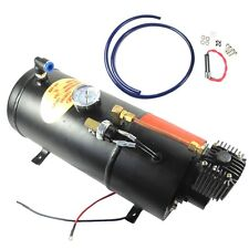 12V TRUCK PICKUP ON BOARD AIR HORN AIR COMPRESSOR WITH 3 LITER TANK 150PSI DC
