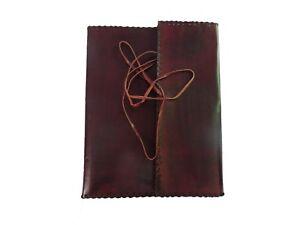 Vintage-Leder-Akten-Tasche-Portfolio-a4-Dokument-Organizer-Leder-Cover