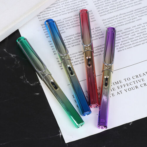 Gradient Fountain Pen Business Student 0.38mm Extra Fine Nib Office Writing T ZF