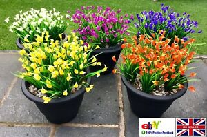 Image Is Loading Artificial Plants Flowers Bunch Wedding Home Grave Outdoor