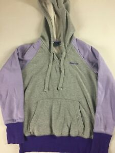 Reebok-Hoodie-Womens-Small-Short-Purple-Gray-Pullover-Long-Sleeve-Casual-Jogger
