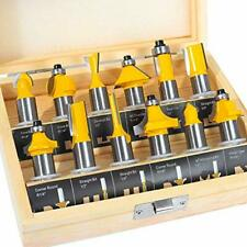 Router Bit 12 Pcs Set 12 Shank Beginner Router Bit Kit For Diy Woodworking