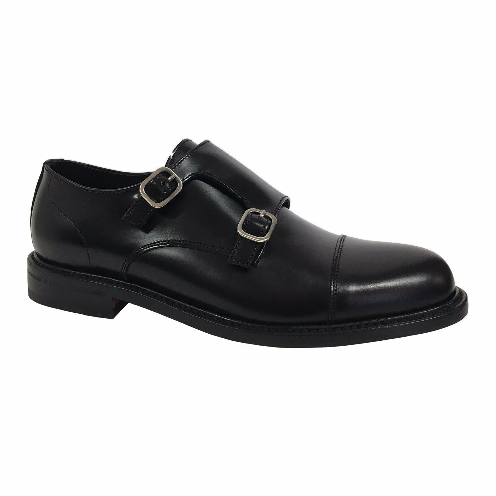 BERWICK 1707 Herren Schuhe schwarz mod 4386 H0192 100% Leder in Spanien gemacht