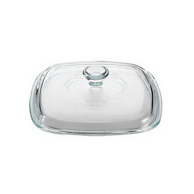 Corningware French White 4-Quart Oval Casserole with Glass Cover