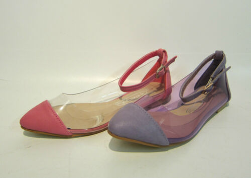 Spot on Girls clear with coloured toe buckle shoes H2270 2 colours available