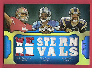 COLIN-KAEPERNICK-3-ROOKIE-JERSEY-CARD-TITUS-YOUNG-AUSTIN-PETTIS-2011-THREADS-36