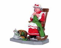 Lemax Christmas Village Mrs Claus Knitting Stockings 62210