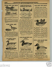 1929 PAPER AD Johnson's Stake Out Fiber Board Duck Decoy Stoner Gundelfingers
