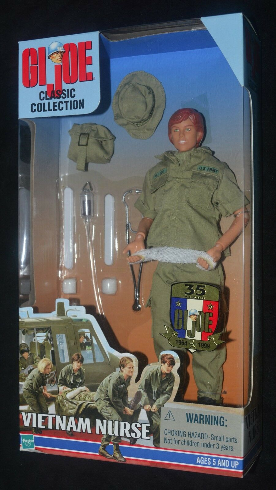 GI Joe VIETNAM NURSE Classic Collection Red Hair 12  35th Anniversary NRFB