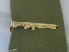 L1A1 FN SLR 7.62 RIFLE GOLD PLATED TIE BAR  60MM LONG