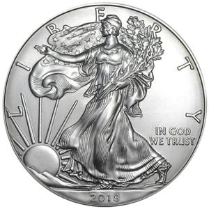 2018 $1 American Silver Eagle 1 oz Brilliant Uncirculated
