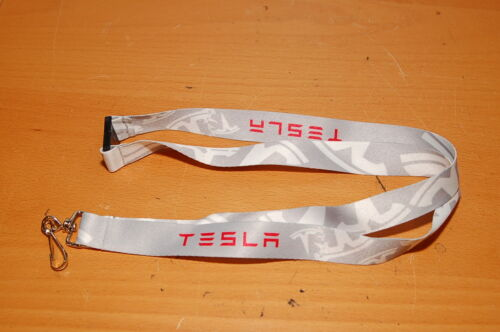 Lanyard for TESLA Grey White Red
