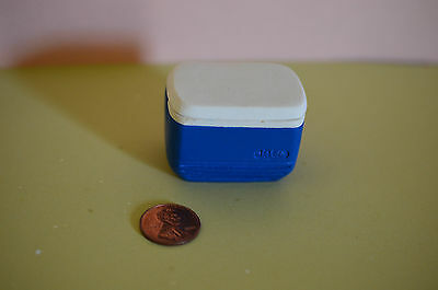 for DOLLHOUSE 1:12 Scale Loose Ice Cubes Miniature Blue Igloo Cooler w//Top