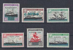 Europe-Cept-1963-Guernsey-Sark-Ships-6-Values-Cinderella-MNH