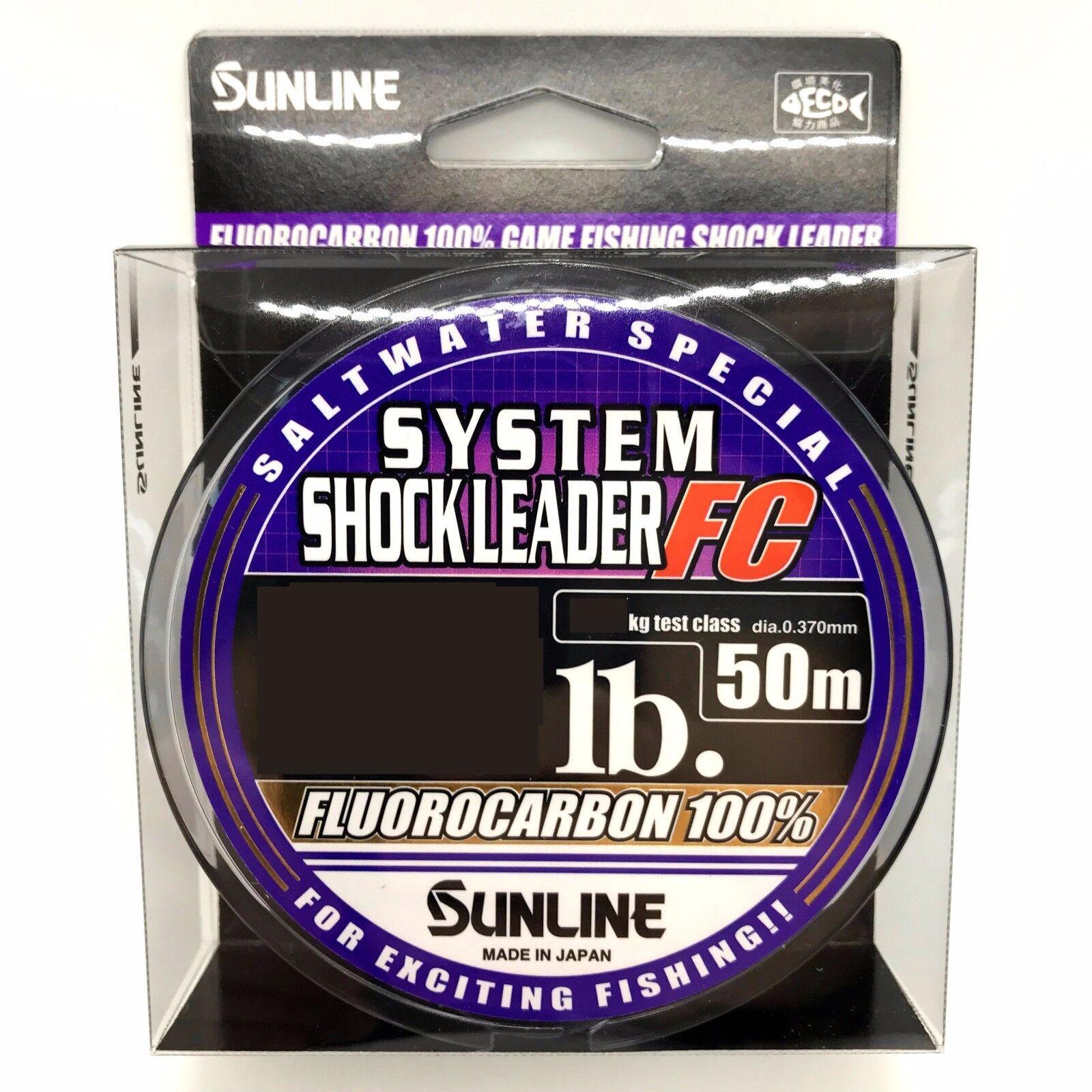 Sunline Agua Salada Especial Sistema bajo de Línea FC 30m 30m 30m 50M Fluorocarbono  gran selección y entrega rápida