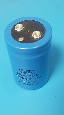 25v 6800uF Sprague Aluminum Electrolytic 36DY Capacitor Screw Terminal OEM USA