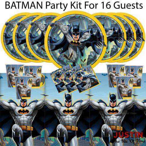 BATMAN Superhero Supplies Boys Birthday Party Tableware Supplies /& Decorations