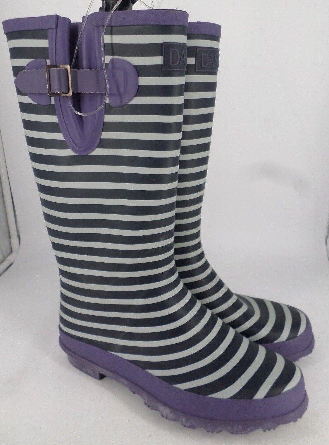 Dash ladies Striped Wellington Boots RRP  LN085 MM 01