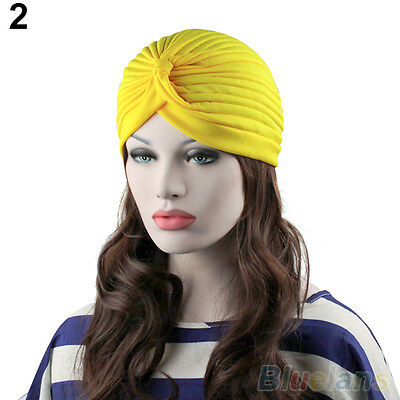 Delicate Unisex Indian Style Stretchable Turban Hat Hair Head Wrap Cap Headwrap