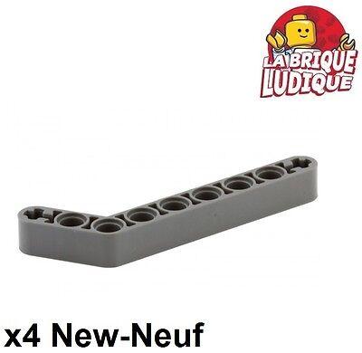 7-3 4x Liftarm 1x9 bent thick grey//light offer gray 32271 NEW Lego Technic