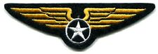 MILITARY crest (wings) EMBROIDERED IRON-ON PATCH *Free Shipping* air force army
