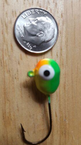 Floating Jigs 100 Firetiger Size 1 Eagle Claw Hook Double Eyes