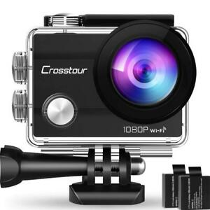 Crosstour-WiFi-camera-d-039-action-Full-HD-Etanche-1080P-Cam-2-034-ecran-LCD-accries