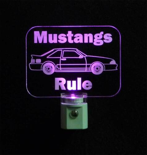 Gift for Dad Personalized Ford Mustang LED Night Light Kids Lamp Man Cave