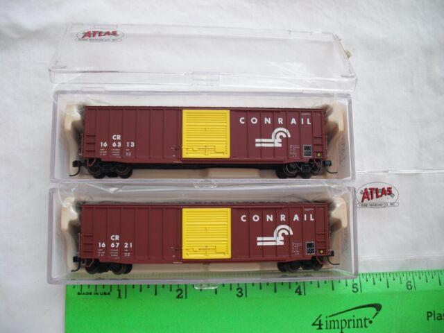 Lot of 2 Atlas 45281 45282, 50' Precision Design Box Car, ConRail CR, N Scale