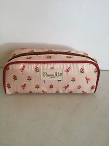 bb358d5ad64c Details about Primrose Hill Flamingo Pink Toiletry Makeup Bag Roses New
