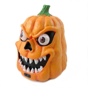 Image Is Loading Scary Pumpkin Decorations With Led Light Sound