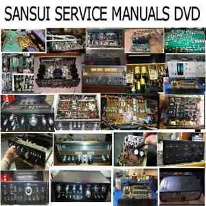 Sansui Service Manuals Owners Workshop HiFi Repair Schematics Custom PDF DVD  !!