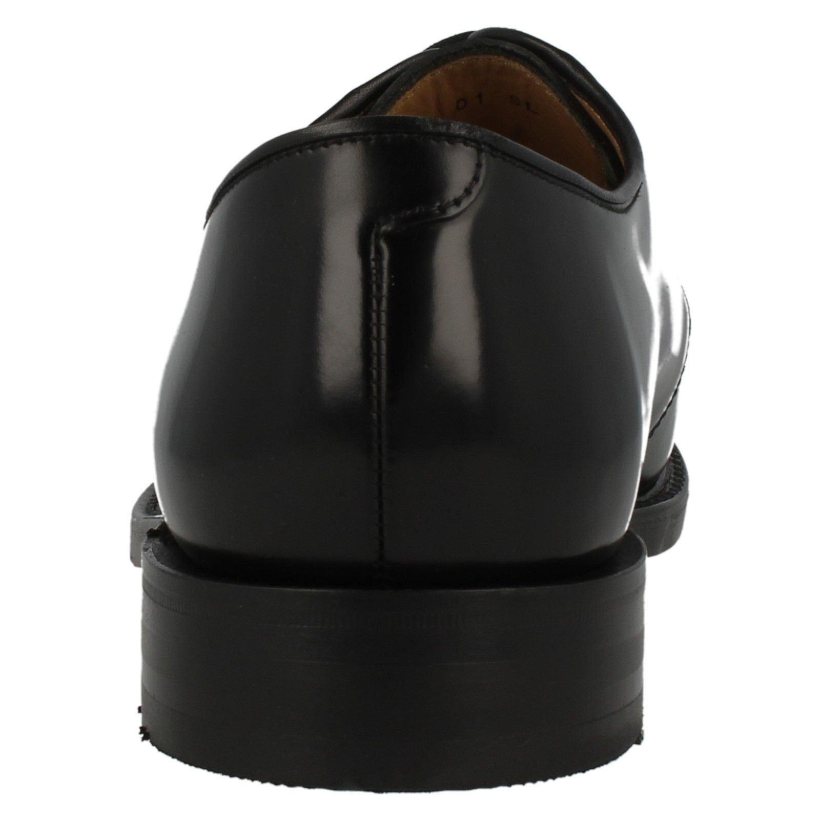 Herren 771B F Passung Schwarz Poliert Leder Schnürbar Schnürbar Schnürbar Schuhe Loake   89d365