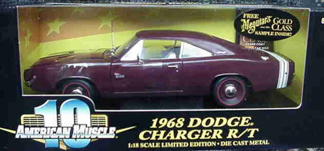 1968 Charger R T Burgundy 1 18 Ertl American Muscle 32767