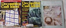 Lot 3 Decorating & Craft Ideas Christmas July Afghans Cross Stitch Easter Crafts