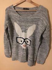 Ladies Light Grey Knitted Jumper Pure Moda ML <M1155