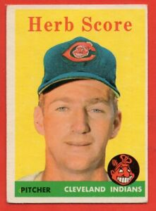 1958 Topps #352 Herb Score VG-VGEX+ WRINKLE Cleveland Indians FREE SHIPPING