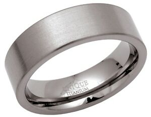 New-7mm-Satin-Titanium-Wedding-Band-Ring-Mens-Jewellery-Gift-Boxed-K-Z-2