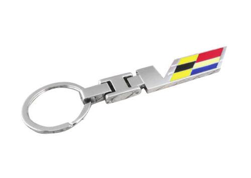 New For V CADILLAC KEY CHAIN RING FOB CTS-V ATS-V CT6 ESCALADE SRX