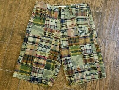 New AE American Eagle Mens Patchwork Madras Shorts BBW Size 30