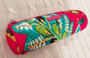 Vera-Bradley-On-A-Roll-Case-Rumba-Pencil-Case-Cosmetic-Red-Cotton-MSRP-18