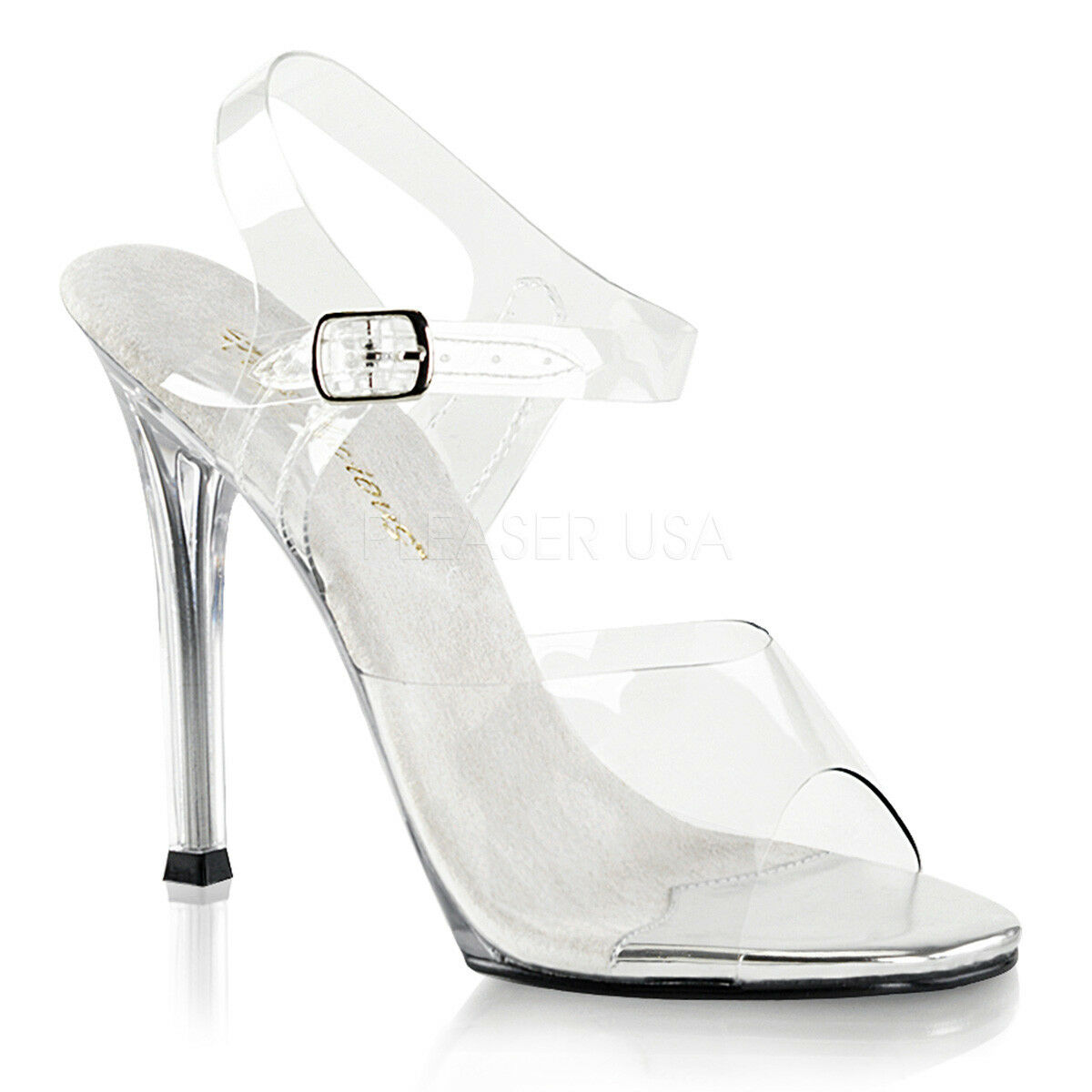 Fabulicious GALA-08 Women's Women's Women's Clear Lucite High Heels Ankle Strap Open Toe Sandals 60e9ed