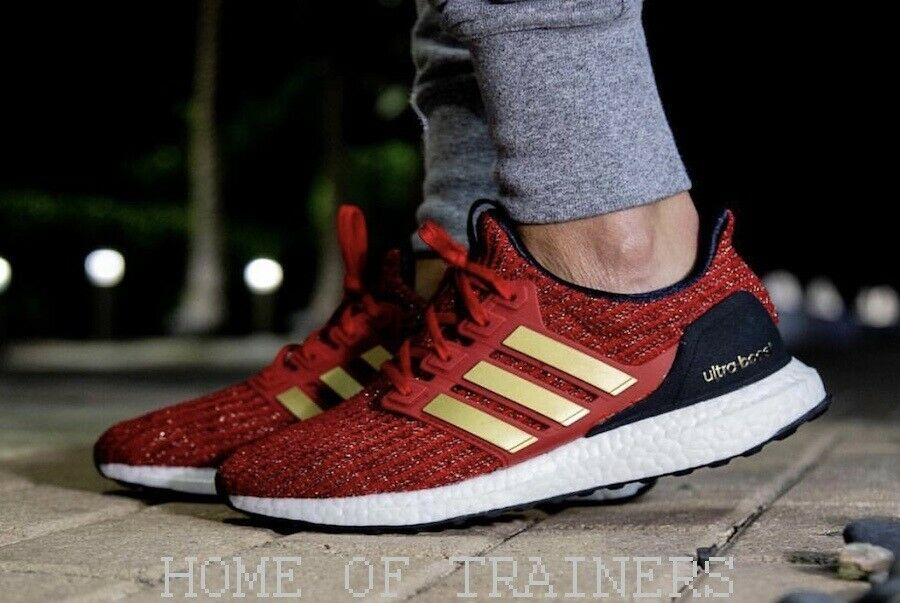 Adidas Ultra Boost X Game Of Thrones House Lanniste Watch Red Men's Trainers