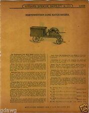1915 PAPER AD 2 Sided Northwestern Cone Batch Concrete Cement Mixer Trailer