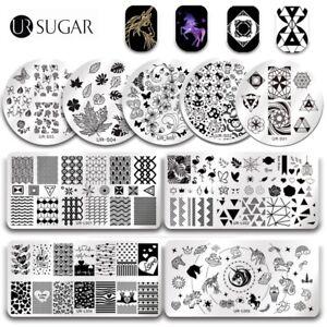 UR-SUGAR-Nail-Stamping-Plates-Stamp-Templates-Nail-Art-Valentine-039-s-Day-Tools