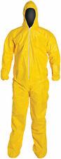 Dupont Tychem Tyvek Qc127s Yellow Coverall Chemical Hazmat Suit 1 Each M 5xl