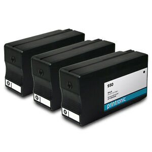 3PK-HP-950-Ink-Cartridge-Black-CN049AN-OfficeJet-Pro-8610-OfficeJet-Pro-8620