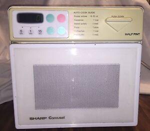 Vintage Sharp Half Pint Microwave Oven Carousel Digital