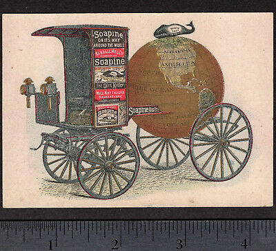 Collectibles Intellective Soapine Whale Parade Wagon 1800's Historic Soap Victorian Advertising Trade Card Maritime
